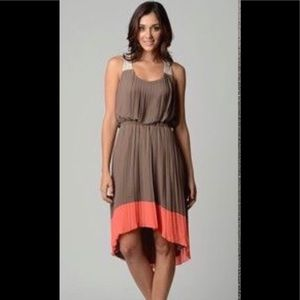 Jessica Simpson pleated high low dress